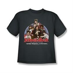 School Of Rock Shirt Kids I Pledge Allegiance Charcoal Youth Tee T-Shirt