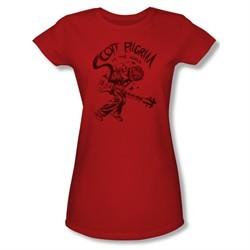 Scott Pilgrim Vs. The World Shirt Juniors Rockin Red Tee T-Shirt