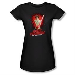 Scott Pilgrim Vs. The World Shirt Juniors Super Sword Black Tee T-Shirt