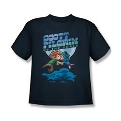 Scott Pilgrim Vs. The World Shirt Kids Lovers Navy Youth Tee T-Shirt