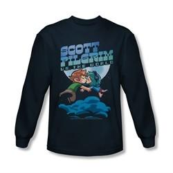 Scott Pilgrim Vs. The World Shirt Lovers Long Sleeve Navy Tee T-Shirt