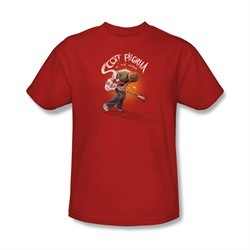 Scott Pilgrim Vs. The World Shirt Scott Poster Adult Red Tee T-Shirt