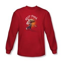 Scott Pilgrim Vs. The World Shirt Scott Poster Long Sleeve Red Tee T-Shirt