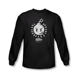 Scott Pilgrim Vs. The World Shirt Sex Bob Omb Logo Long Sleeve Black Tee