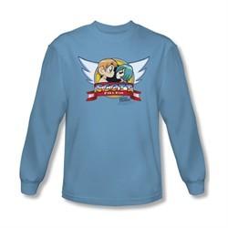 Scott Pilgrim Vs. The World Shirt Sonic Scott Long Sleeve Carolina Blue Tee T-Shirt