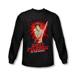 Scott Pilgrim Vs. The World Shirt Super Sword Long Sleeve Black Tee T-Shirt