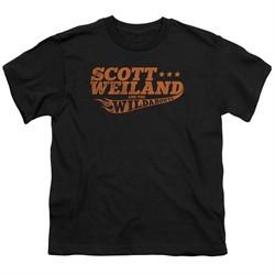 Scott Weiland Shirt Kids Logo Black T-Shirt