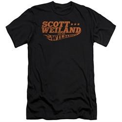 Scott Weiland Shirt Slim Fit Logo Black T-Shirt