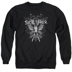 Seether Sweatshirt Suffer Adult Black Sweat Shirt