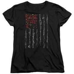 Seether Womens Shirt Bone Flag Black T-Shirt