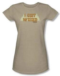 Shaun Of The Dead Juniors T-shirt Movie Ed's Shirt Safari Green Shirt