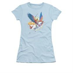 She-Ra Shirt Juniors And Swiftwind Light Blue Tee T-Shirt