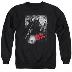 Sin City  Sweatshirt Movie Poster Adult Black Sweat Shirt