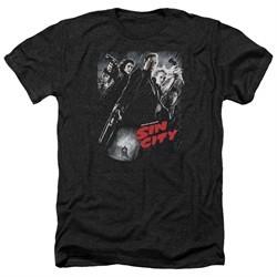 Sin City Shirt Movie Poster Heather Black T-Shirt