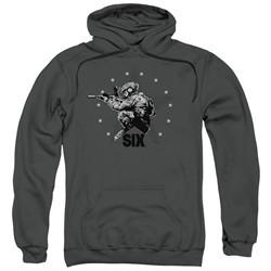 Six A&E TV Show Hoodie Star Shooter Charcoal Sweatshirt Hoody