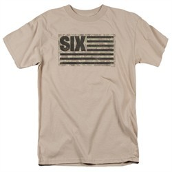 Six A&E TV Show Shirt Camo Flag Sand T-Shirt