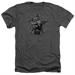 Six A&E TV Show Shirt Star Shooter Heather Charcoal T-Shirt