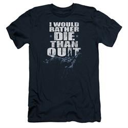 Six A&E TV Show Slim Fit Shirt No Quitting Navy Blue T-Shirt