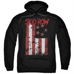 Skid Row Hoodie Flagged Black Sweatshirt Hoody