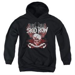 Skid Row Kids Hoodie Winged Skull Black Youth Hoody