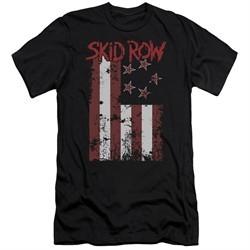 Skid Row Slim Fit Shirt Flagged Black T-Shirt