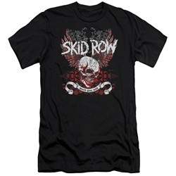 Skid Row Slim Fit Shirt Winged Skull Black T-Shirt