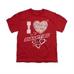 Smarties Shirt Kids I Heart Smarties Red T-Shirt