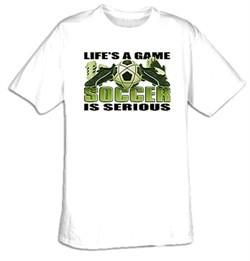 Soccer Is Serious Adult T-shirt Tee Shirt