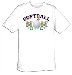 Softball Mom Sport Adult T-shirt Tee Shirt