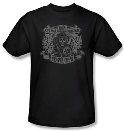 Sons Of Anarchy Shirt Original Reaper Crew Adult Black Tee T-Shirt