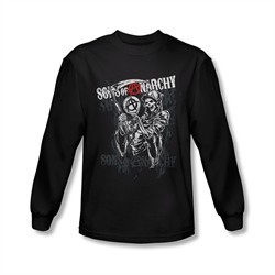 Sons Of Anarchy Shirt Reaper Logo Long Sleeve Black Tee T-Shirt
