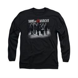 Sons Of Anarchy Shirt Rolling Deep Long Sleeve Black Tee T-Shirt