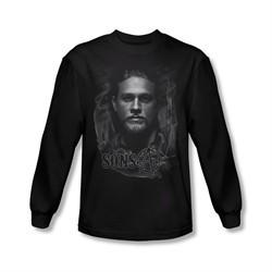 Sons Of Anarchy Shirt Smokey Face Long Sleeve Black Tee T-Shirt