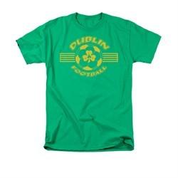 St. Patrick's Day Shirt Dublin Football Adult Kelly Green Tee T-Shirt