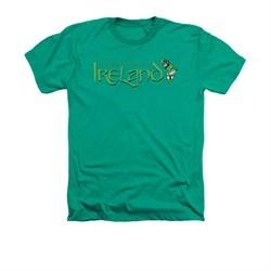 St. Patrick's Day Shirt Ireland Adult Heather Kelly Green Tee T-Shirt