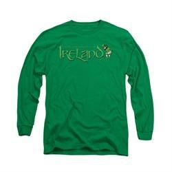 St. Patrick's Day Shirt Ireland Long Sleeve Kelly Green Tee T-Shirt