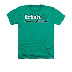 St. Patrick's Day Shirt Irish  Adult Heather Kelly Green Tee T-Shirt