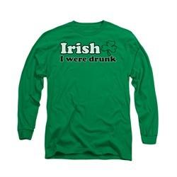 St. Patrick's Day Shirt Irish  Long Sleeve Kelly Green Tee T-Shirt