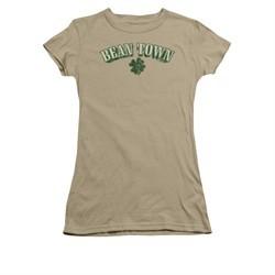 St. Patrick's Day Shirt Juniors Bean Town Safari Green Tee T-Shirt