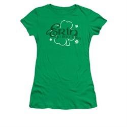 St. Patrick's Day Shirt Juniors Erin Go Braless Kelly Green Tee T-Shirt