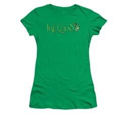 St. Patrick's Day Shirt Juniors Ireland Kelly Green Tee T-Shirt