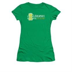 St. Patrick's Day Shirt Juniors So Irish Kelly Green Tee T-Shirt