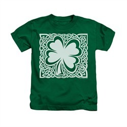 St. Patrick's Day Shirt Kids Celtic Clover Kelly Green Youth Tee T-Shirt