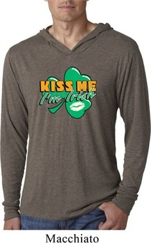 St Patrick's Day Kiss Me I'm Irish Lightweight Hoodie Shirt