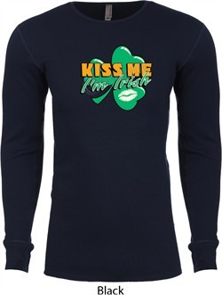 St Patrick's Day Kiss Me I'm Irish Long Sleeve Thermal Shirt