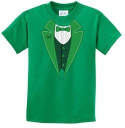 St Patricks Day Kids Shirt Irish Tuxedo Tee T-Shirt