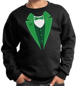 St Patricks Day Kids Sweatshirt Irish Tuxedo Sweat Shirt
