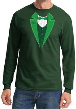St Patricks Day Mens Shirt Irish Tuxedo Long Sleeve Tee T-Shirt