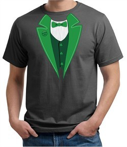 St Patricks Day Mens Shirt Irish Tuxedo Organic Tee T-Shirt