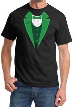 St Patricks Day Mens Shirt Irish Tuxedo Tee T-Shirt